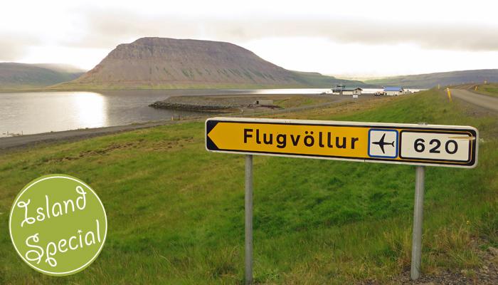Flughafen in Island