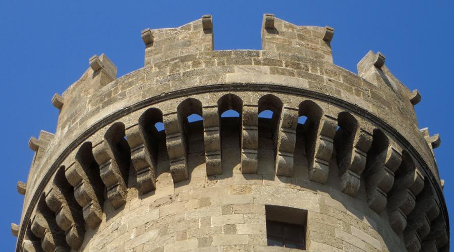 Die Festung in der Altstadt von Rhodos