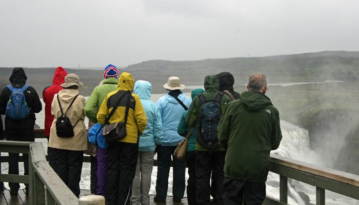 Touristen in Island
