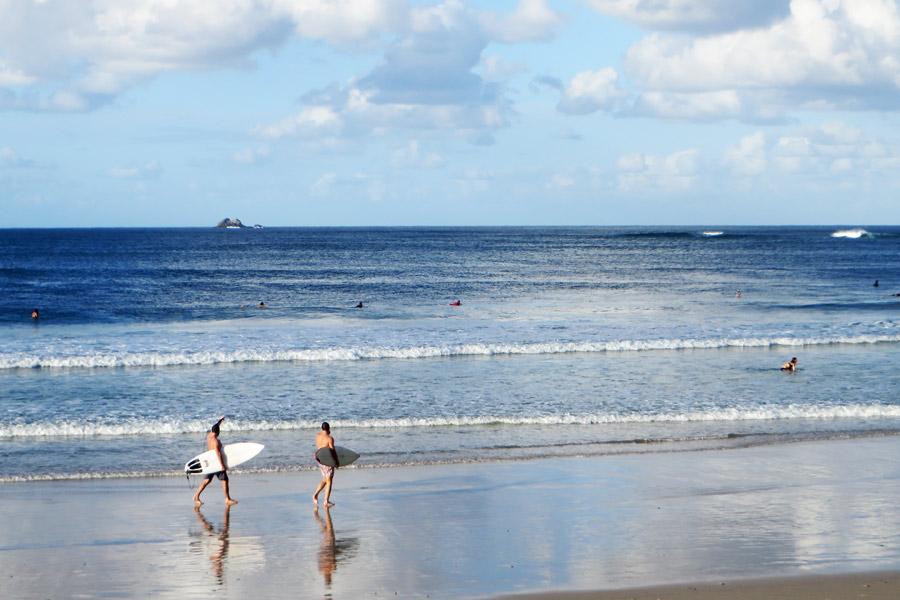 Surferstrand in Australien