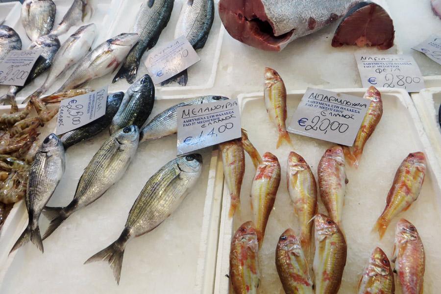 Fisch am Markt von Thessaloniki