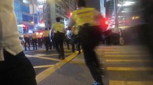 Polizie im Einsatz in Hongkong