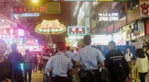 Polizei bei den Demonstrationen in Hongkong