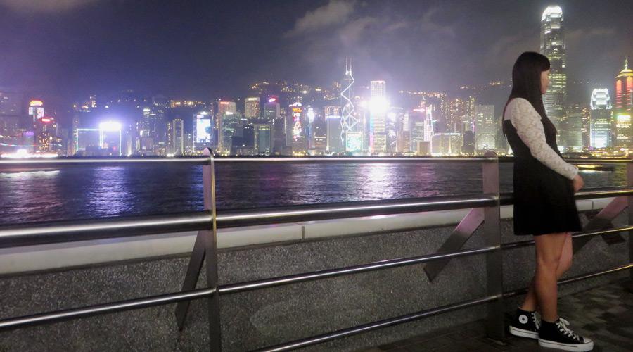 Skyline der Hongkong Island