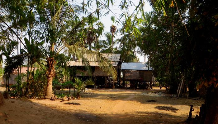 Dorf im Angkor Areal, Siem Reap, Kambodscha