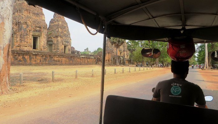 Tuk Tuk Fahrt durch das Areal von Angkor