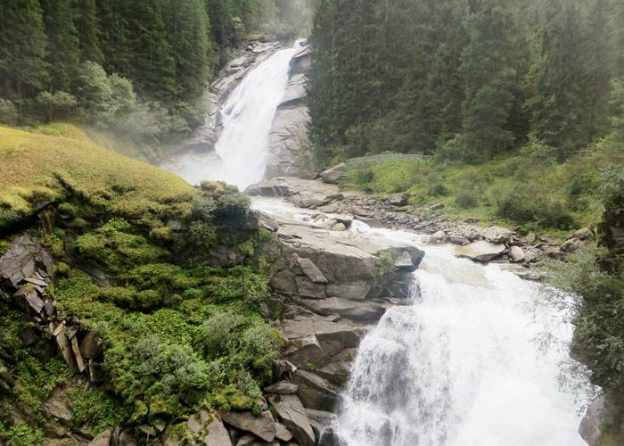 Die Krimmler Wasserfälle im Pinzgau