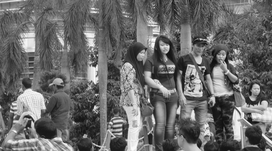 Gruppenfoto vor den Petronas Towers