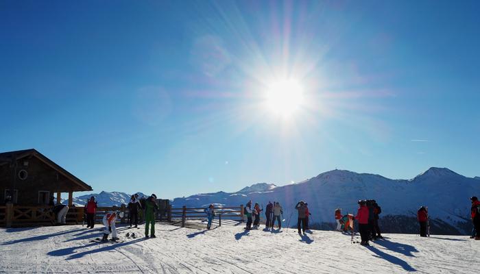 Sonnenskilauf in Livigno