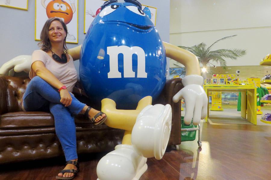 M & M's Shop am Flughafen Singapur
