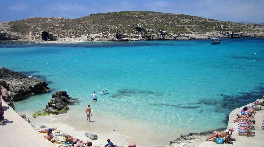 Die Blaue Lagune auf Comino.