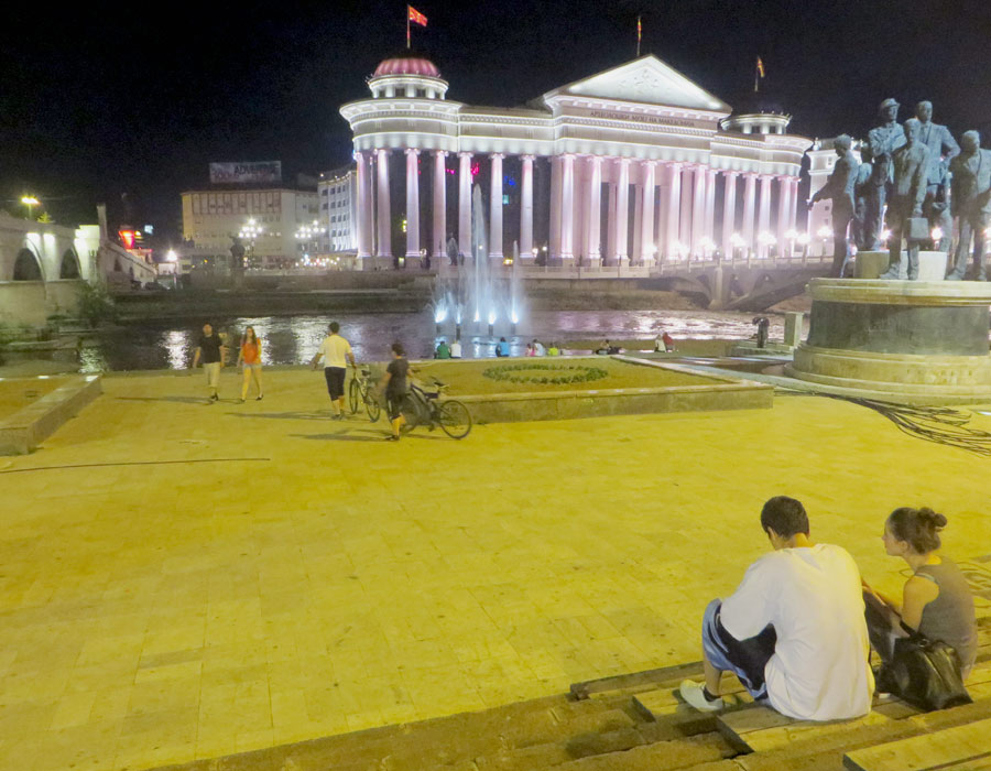 Bauprojekt Skopje 2014