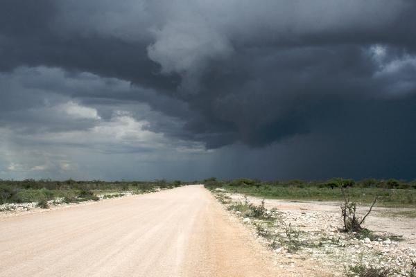 Regen in Namibia