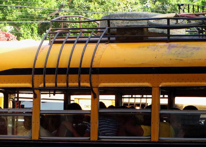 Busfahren gehört auch zum Backpacking in Nicaragua