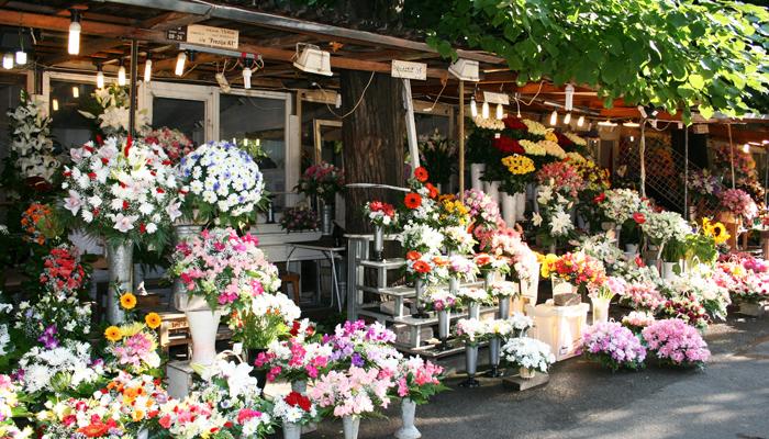 Blumenstand in Riga