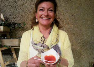 Claudia Dums aus Salzburg verkauft hausgemachte Marmeladen