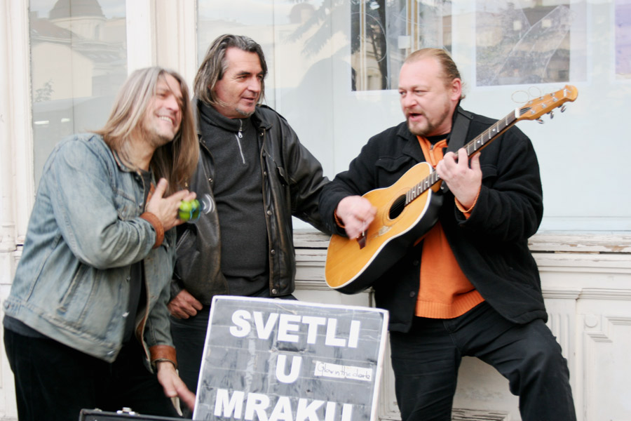 Straßenmusiker in Belgrad