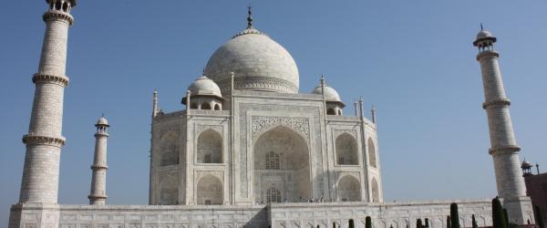 Das Mausoleum Taj Mahal in Indien