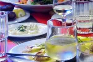 Essen in der Taverne bzw. im Restaurant Palati in Thessalonki