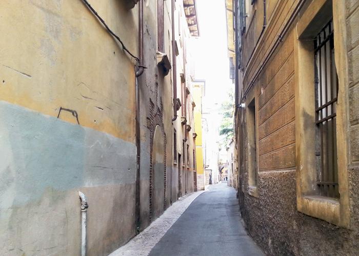 Seitengasse beim Hostel Hostel Protezione della Giovanne, Verona