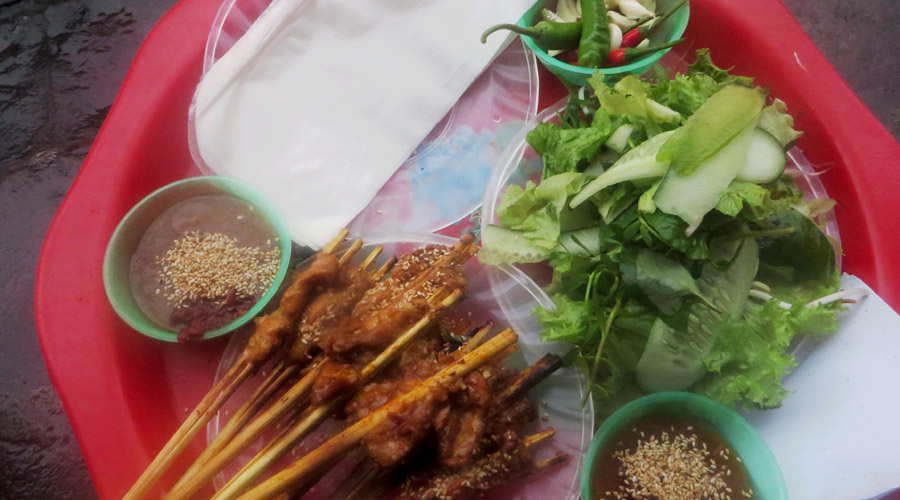 Fleisch in Reispapier