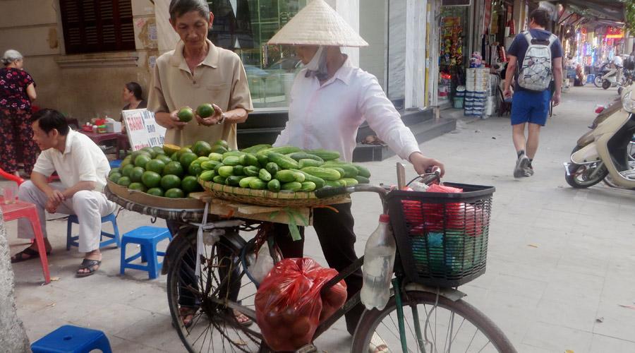 Fahrradverkäuferin in Vietnam