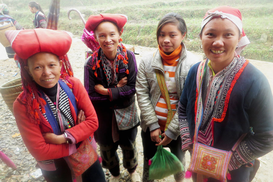 Rote Hmong in Sapa, Vietnam