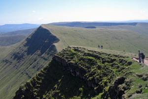 Wandern in den Black Mountains, Wales
