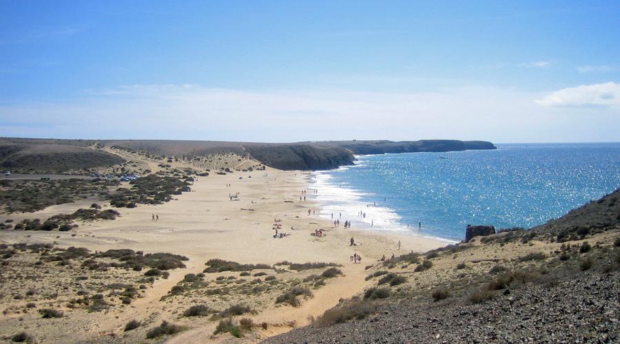 Sandstrand auf Lanzarote