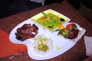 Klassisches grünes Thai-Curry mit Hühnerfleisch