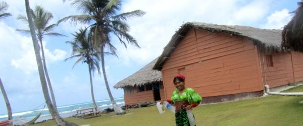 Das Paradies der einsameln Inseln auf San Blas, Panama.