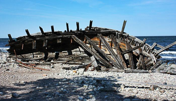 Das Schiffswrack des Schoners Swiks liegt seit 1926 hier.