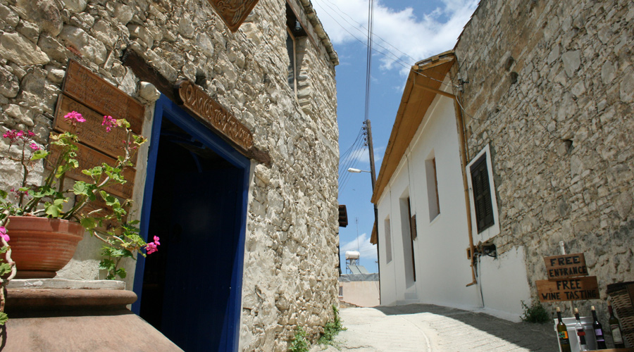 Dorf auf Zypern