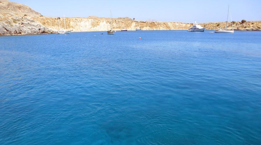 Der Hafen von Lindos, Rhodos