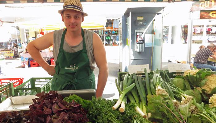 Gemüsebauer am Markt in Bregenz