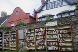 Buecherstadt Hay on Wye in Wales