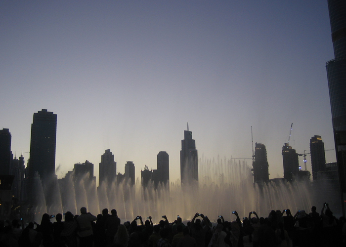 Touristenspektakel in Dubai