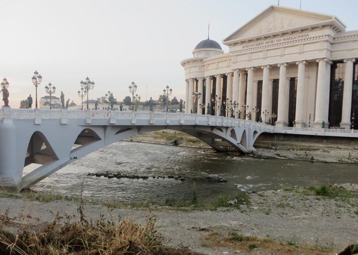 Mazedoniens Hauptstadt Skopje