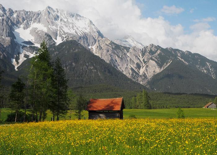 Mieminger Plateau mit Mieminger Gebirge