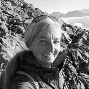 Irmgard Wibmer meditiert gern am Berg