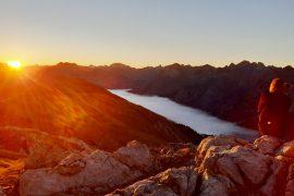 Meditieren in den Bergen