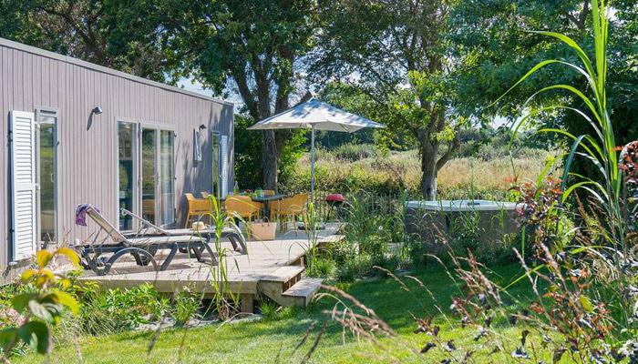 Luxus-Campinghütte in der Bretagne
