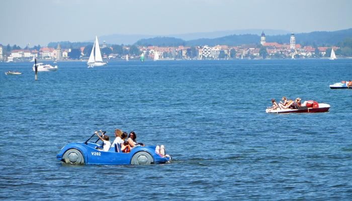 Fahrt auf dem Bodensee bei Bregenz