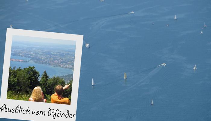 Per Gondel geht's auf den Pfänder in Bregenz