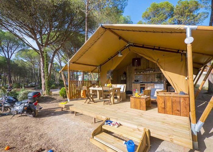Glamping-Zelt im spanischen Naturpark