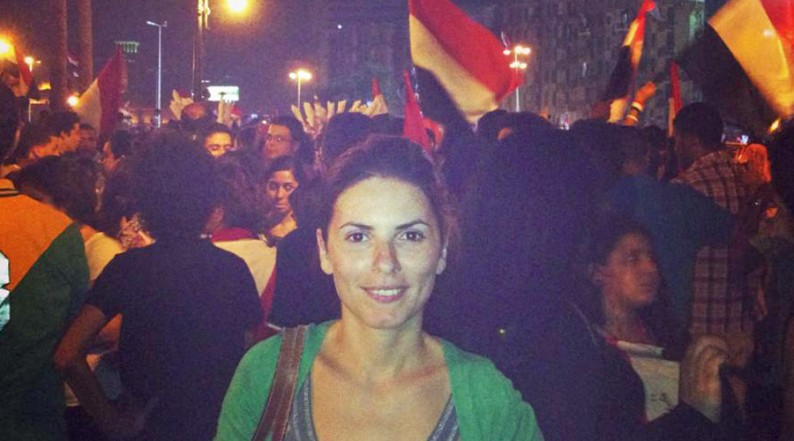 Sharine beim Protestieren in Ägypten