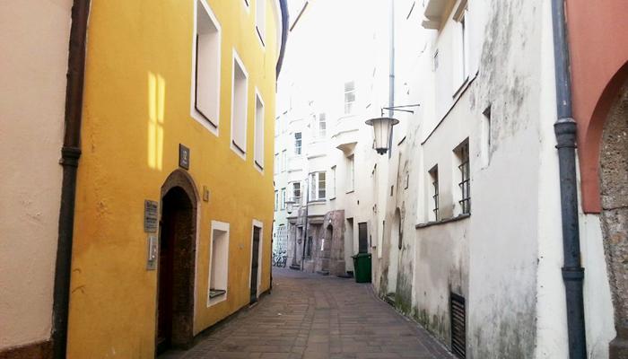 Ruhige Gasse in der Innsbrucker Altstadt
