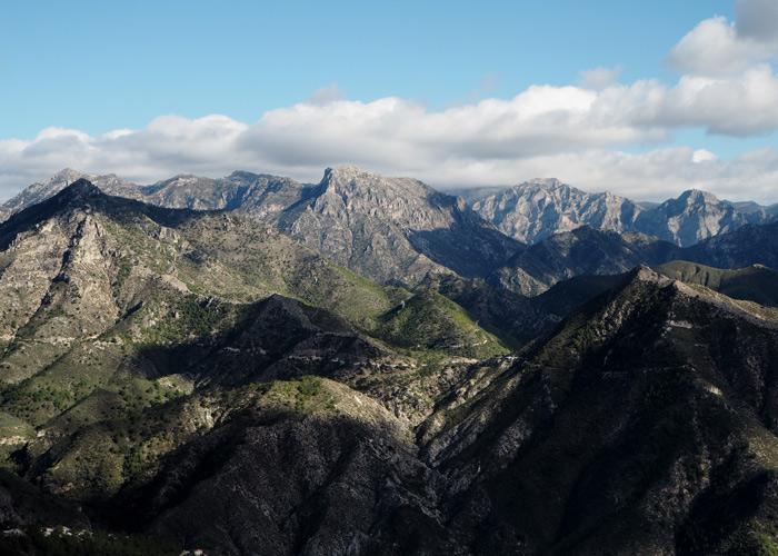 Andalusien_Malaga_weisse Doerfer_pueblos blancos_Nationalpark Sierra de Tejeda