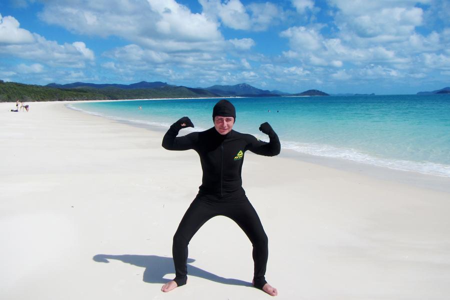 Schutzanzug in der Quallensaison in Australien