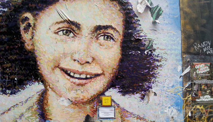 Wall Painting von Anne Frank in Berlin